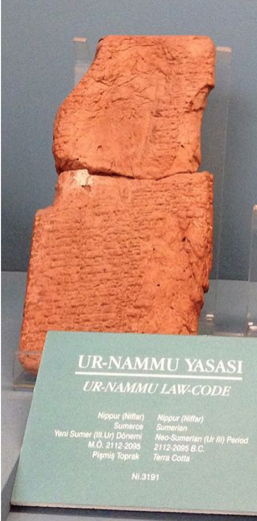 The Code of Ur-Nammu — Circa 2100 BC